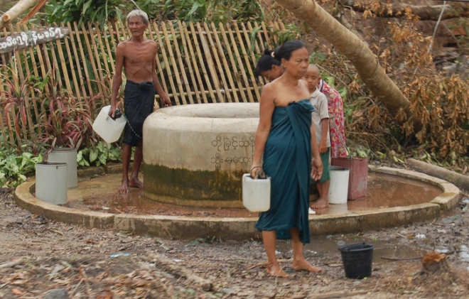 Community well in Burma